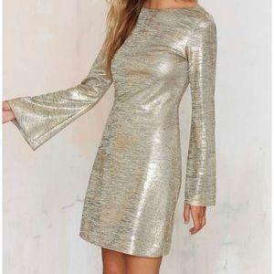 Nasty Gal Metallic Dress